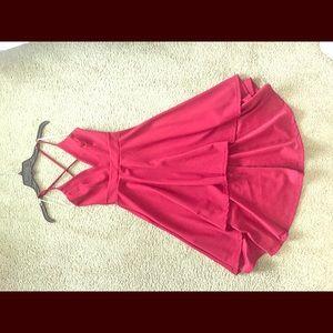 Red Midi Cocktail Dress